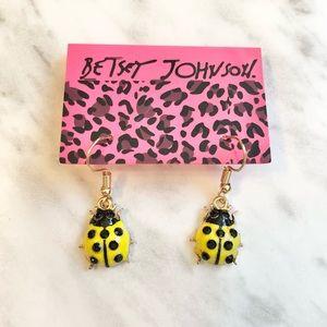🎉 New Betsey Johnson Yellow Ladybug Earrings
